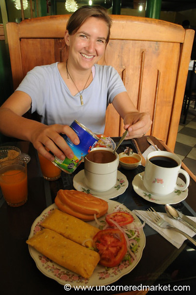 Humitas and Coffee for Breakfast - San Ignacio, Peru