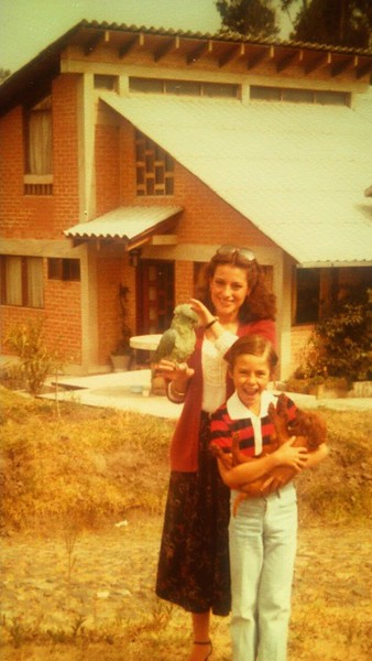 Old School photo discovery. Maria Jose, IMV, my parrot and dog