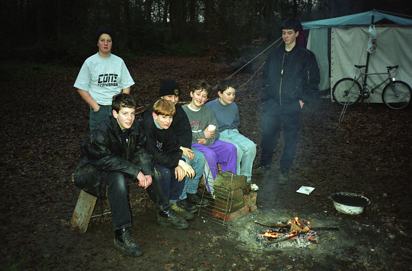 A small scout camp