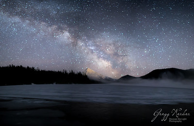 Milky Way, Lost Lake and Mt Hood