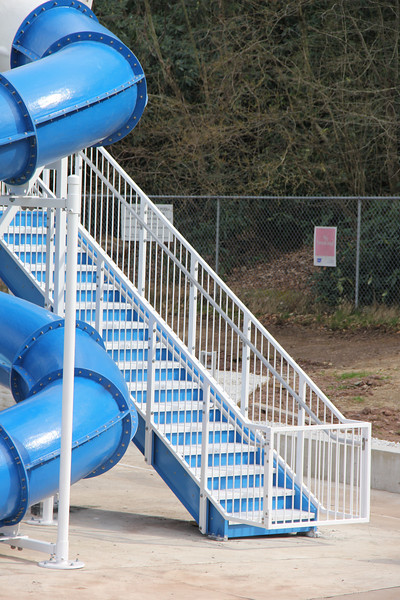 New Water Slide Placed at Bungalow Park, Tamaqua (4-24-2013)