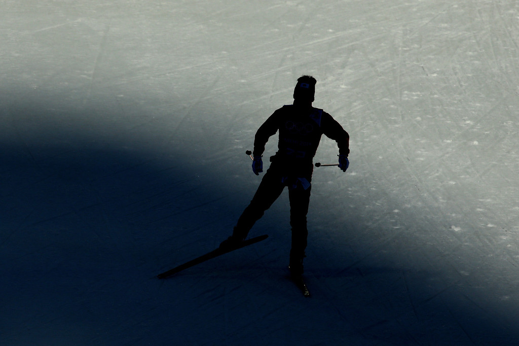 . Hideaki Nagai of Japan competes in the Nordic Combined Individual Gundersen Normal Hill and 10km Cross Country on day 5 of the Sochi 2014 Winter Olympics at the RusSki Gorki Nordic Combined Skiing Stadium on February 12, 2014 in Sochi, Russia.  (Photo by Al Bello/Getty Images)