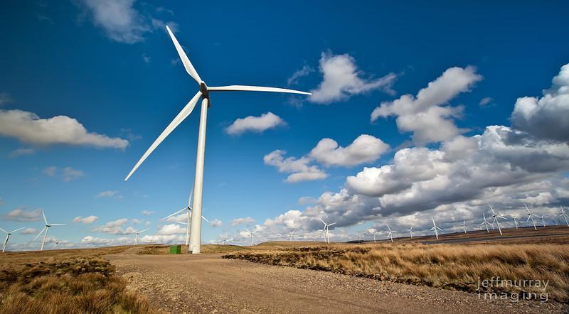 Wind power road.