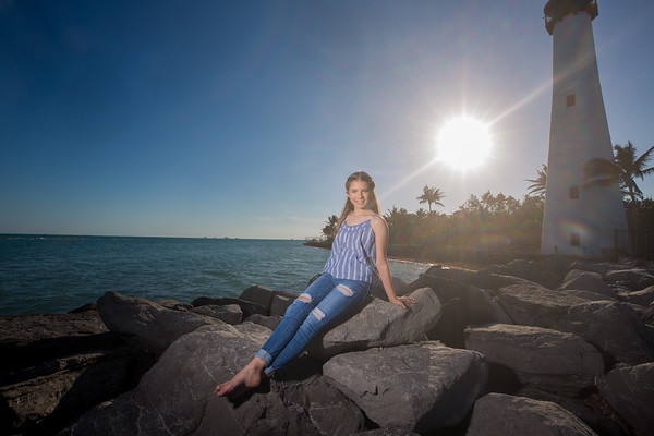 Amanda's Portrait Session, Key Biscayne Lighthouse