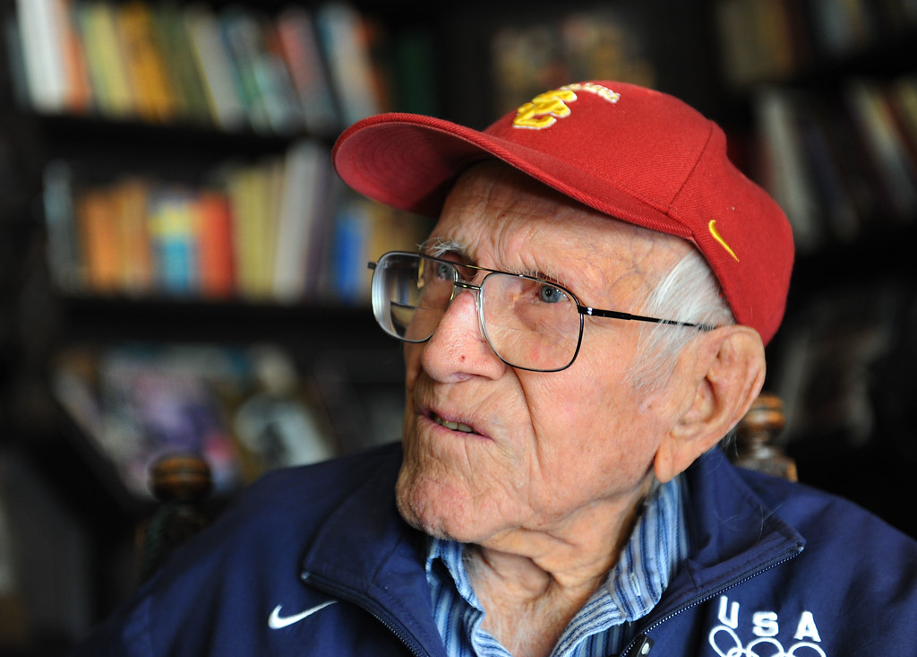 . Louis Zamperini, 94, at his Hollywod home. (Photo by Brad Graverson/Daily Breeze) 11-7-10