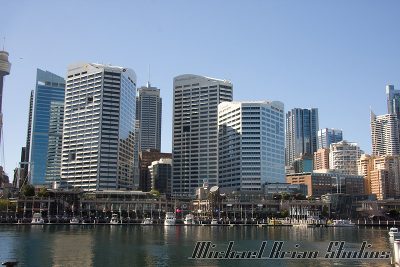 Darling Harbor, looking east towards downtown Sydney.
