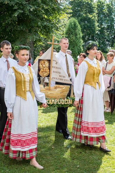 Lithuanians celebrate religious festival, Punsk, Suwalskie Region, Poland