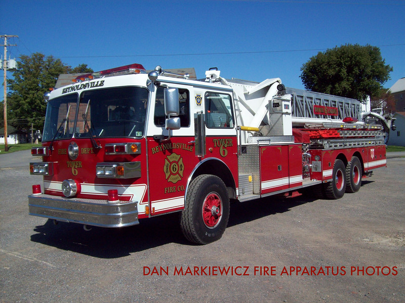 REYNOLDSVILLE FIRE DEPT. TOWER 6 1987 SUTPHEN TOWER LADDER