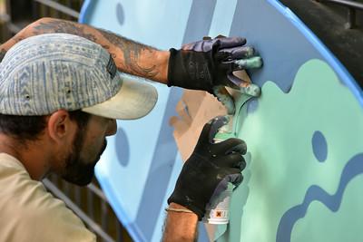 Artist David Polka Paints Murals