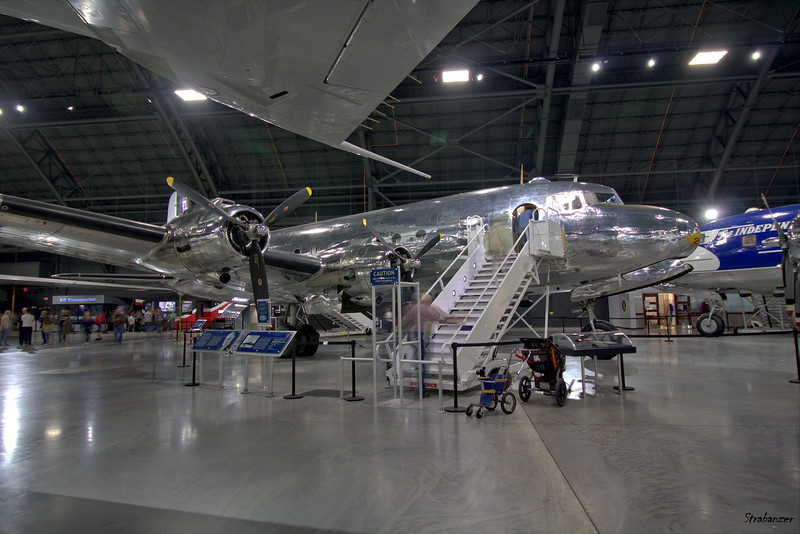 """National Museum of the United States Air Force, Dayton, Ohio,   04/13/2019  Douglas VC-54C-5-DO Skymaster C/N 7470  42-107451 """"Sacred Cow""""   Presidential Aircraft  This work is licensed under a Creative Commons Attribution- NonCommercial 4.0 International License."""