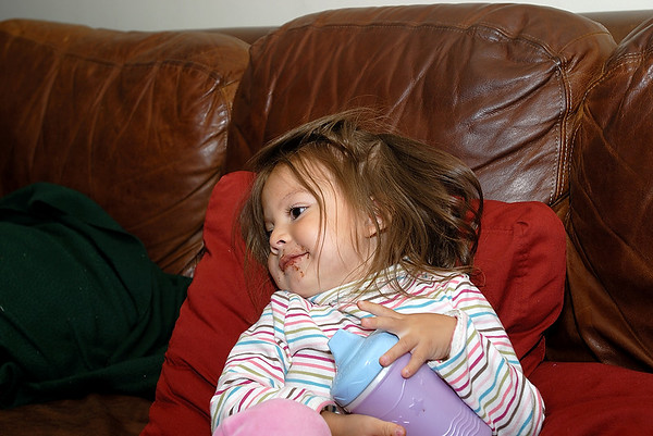 9/15/07 Madeline on the couch