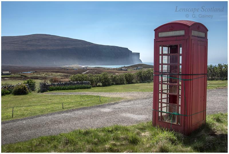 Red telephone box, Rackwick