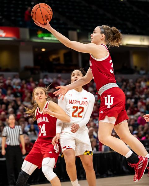 Big Ten Women's Tourney Indiana vs Maryland