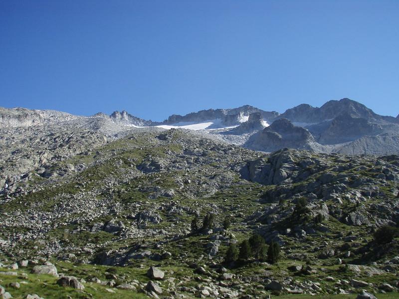 Pico Aneto at 2500m on our ascent from  Refugio de la Renclusa