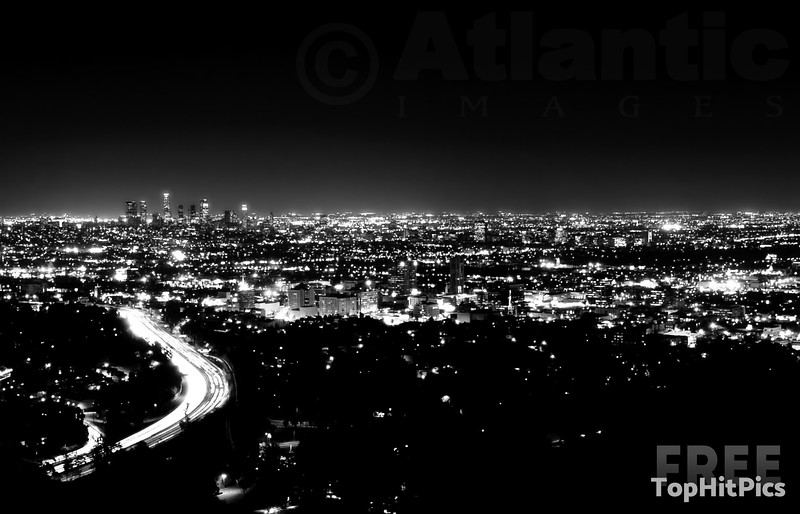 The Los Angeles Skyline from Mulholland Drive