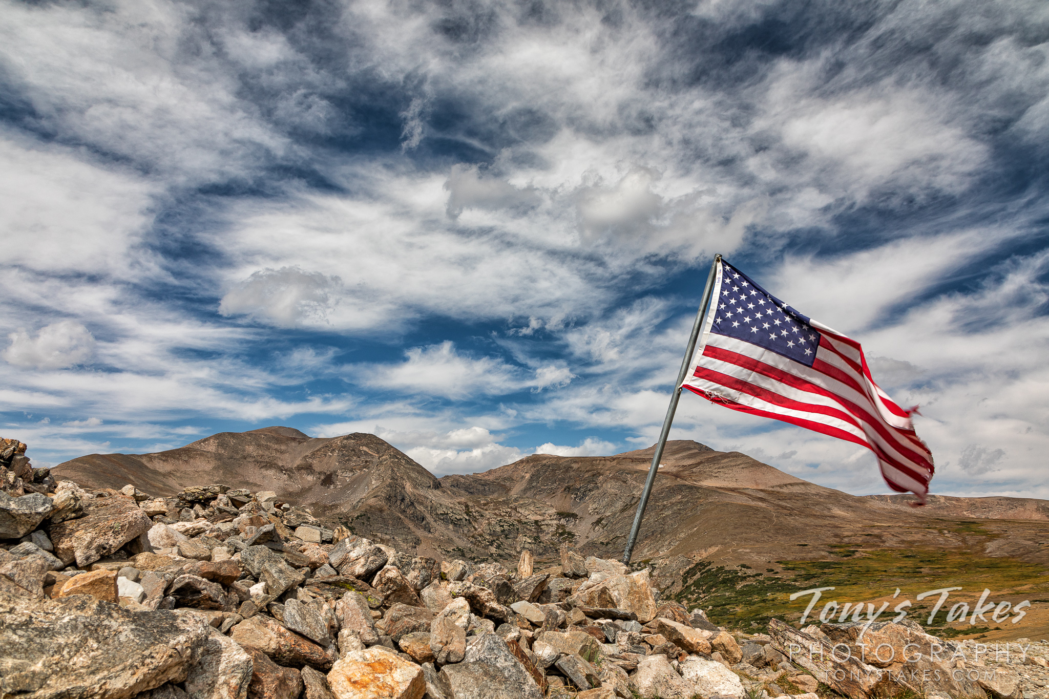 Old Glory at 12,000 feet