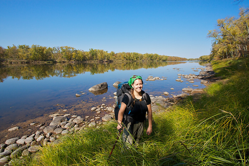Jane standing next to the St. Croix. Thanks Jane for organizing this great backpacking trip!