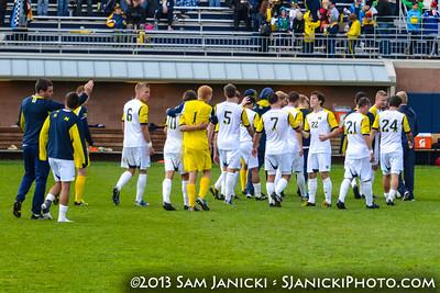 Post Match of UM Men's Soccer Vs Wisconsin 10-20-13