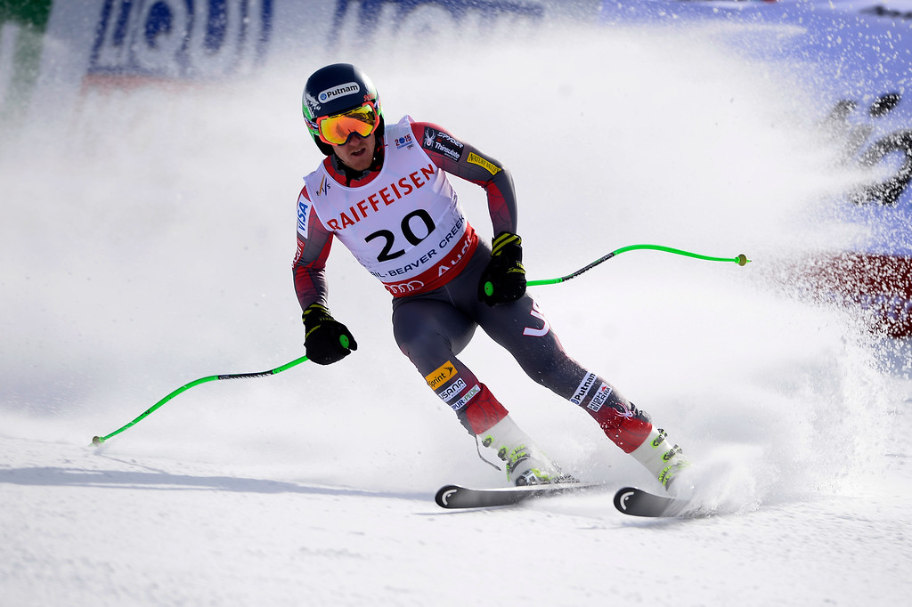 . BEAVER CREEK, CO - FEBRUARY 03: USA skier Ted Ligety competes during the the men\'s downhill training. FIS Alpine World Ski Championships 2015 on Tuesday, February 3, 2015. (Photo by AAron Ontiveroz/The Denver Post)
