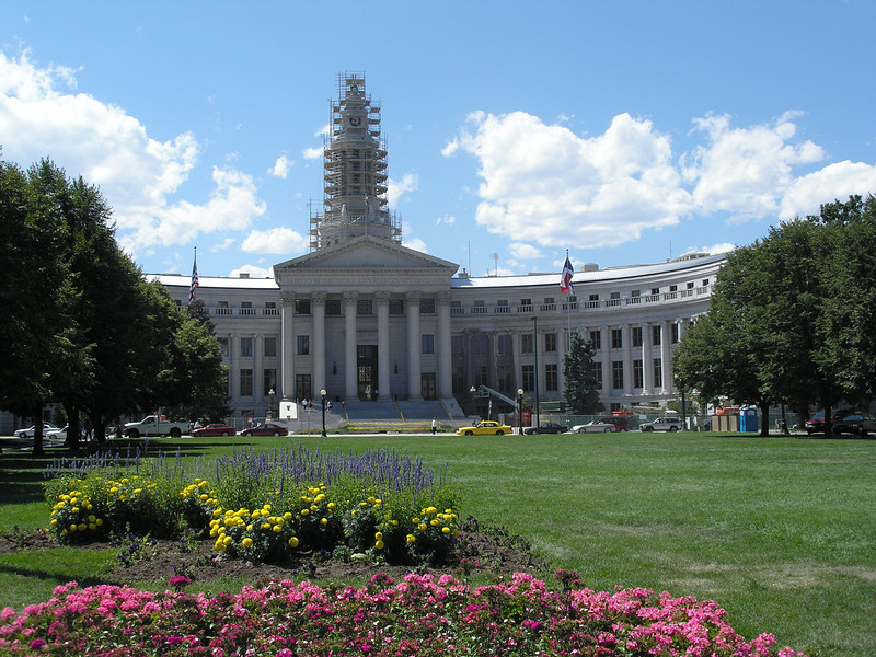 Green space between State Capital and city/county building