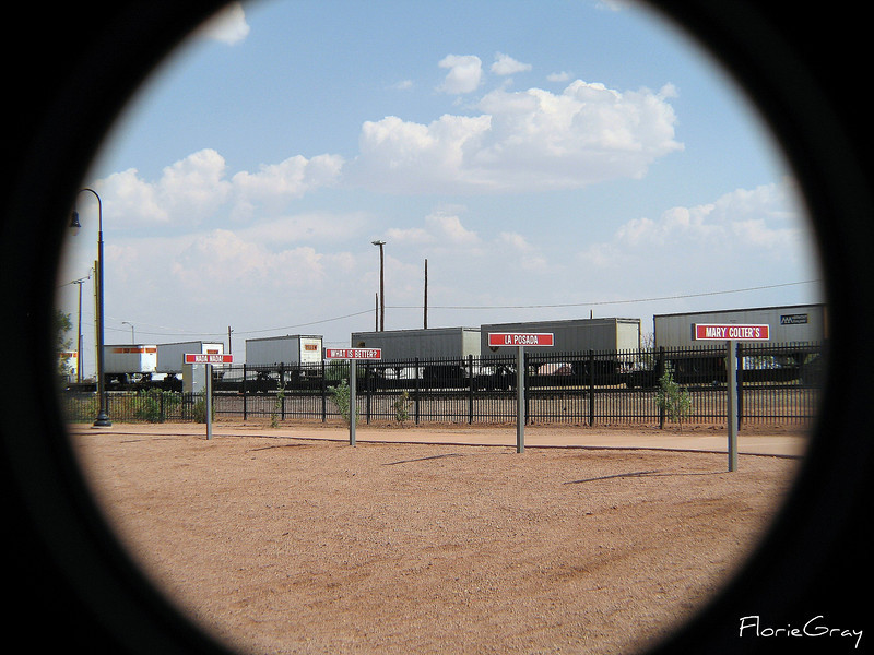 Railway, Winslow, Arizona  Note the Burma Shave signs!!!