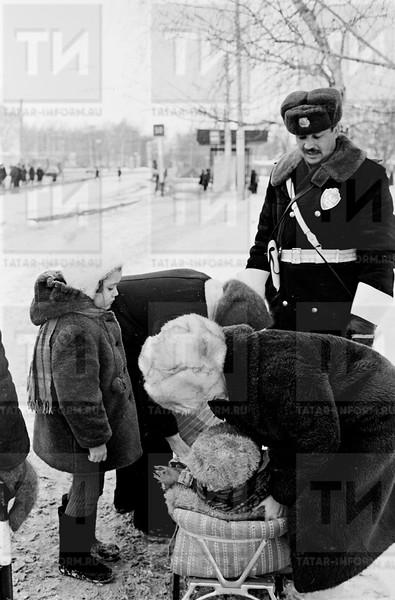 Спец.  дружина ГАИ УВД г. Казани автодружина Порт. Любин А. Г. февраль 1988г