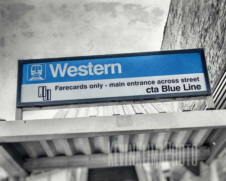 Western cta Blue Line
