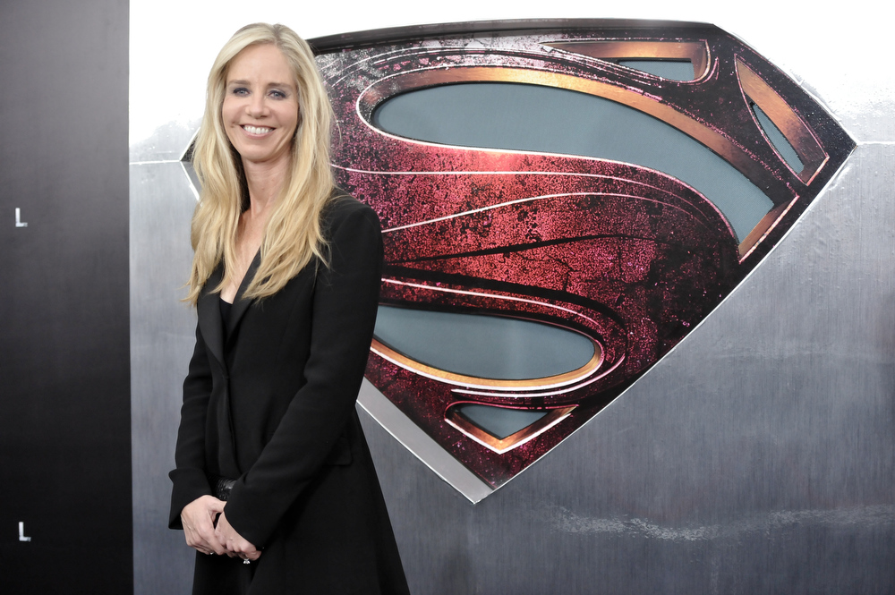 """. DC Entertainment president Diane Nelson attends the \""""Man Of Steel\"""" world premiere at Alice Tully Hall on Monday, June 10, 2013 in New York. (Photo by Evan Agostini/Invision/AP)"""