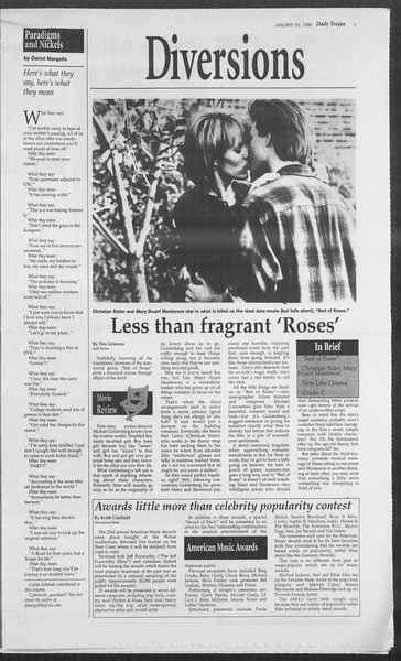 Daily Trojan, Vol. 127, No. 11, January 29, 1996