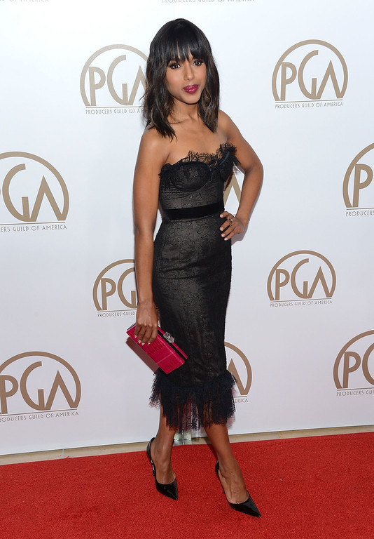 . BEVERLY HILLS, CA - JANUARY 26:  Actress Kerry Washington arrives at the 24th Annual Producers Guild Awards held at The Beverly Hilton Hotel on January 26, 2013 in Beverly Hills, California.  (Photo by Jason Kempin/Getty Images)