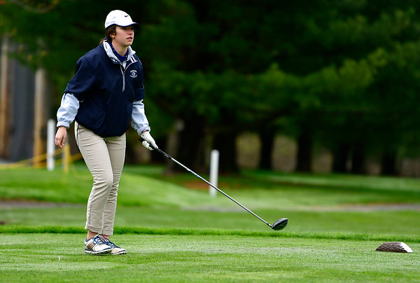 4/30/2019 Mike Orazzi | Staff Bristol Eastern's Mollie Lewis during Tuesday's match with Bristol Central at Chippanee Golf Club.