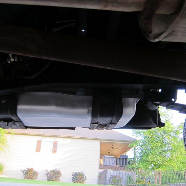 passenger fuel tank re-mounted