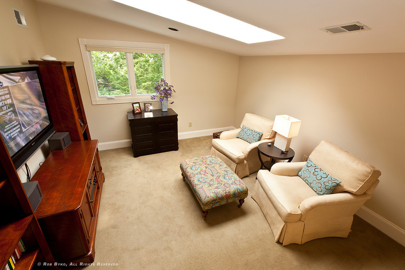 Master suite sitting room, also makes a perfect get-away quiet space, nursery, home office or exercise area.