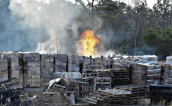 McAdoo District 49 pallets on fire Van Holken greenhouse 5-3-18