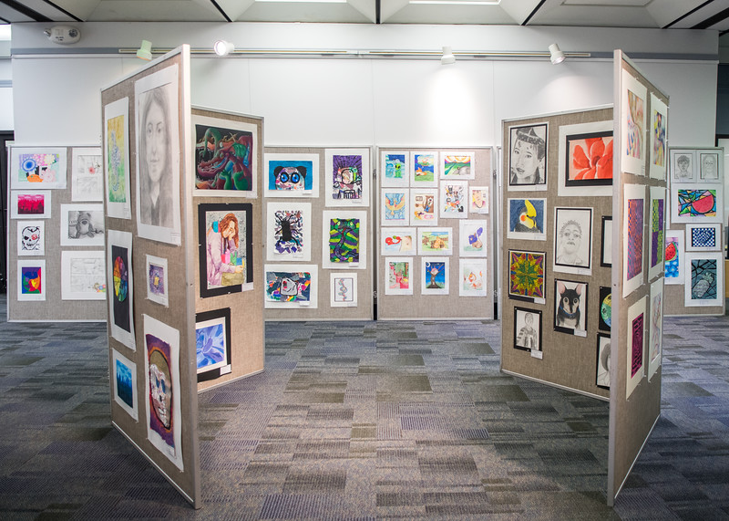 The Corpus Christi Independent School District (CCISD) Youth Art Month Exhibition is on display in the Mary and Jeff Bell Library now until March 27.