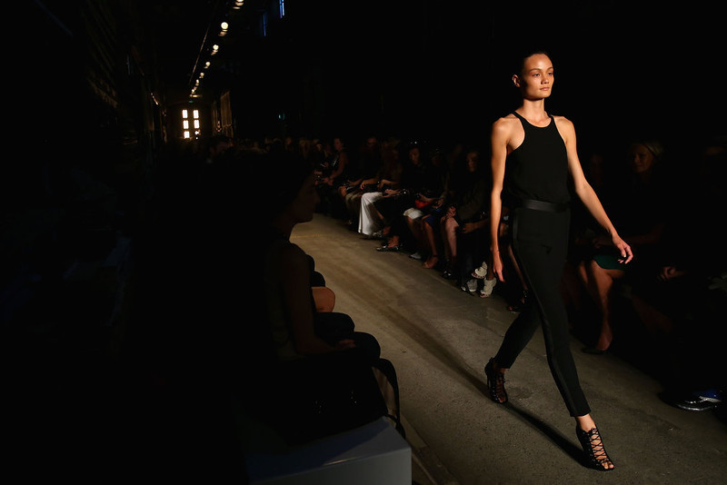 . A model showcases designs on the runway at the Alex Perry show during Mercedes-Benz Fashion Week Australia Spring/Summer 2013/14 at Carriageworks on April 8, 2013 in Sydney, Australia.  (Photo by Mark Nolan/Getty Images)
