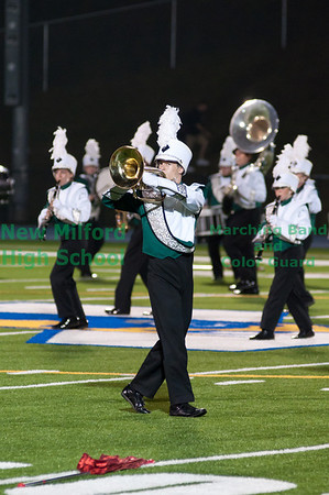 NMHS Band and Color Guard at Newtown High School, September 24, 2011