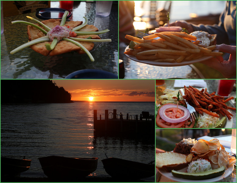 Fred & Fuzzy's Waterfront Grill with a sunset view - the perfect combo.