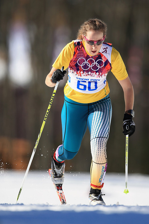 . Aimee Watson of Australia competes in the Women\'s 10 km Classic during day six of the Sochi 2014 Winter Olympics at Laura Cross-country Ski & Biathlon Center on February 13, 2014 in Sochi, Russia.  (Photo by Richard Heathcote/Getty Images)