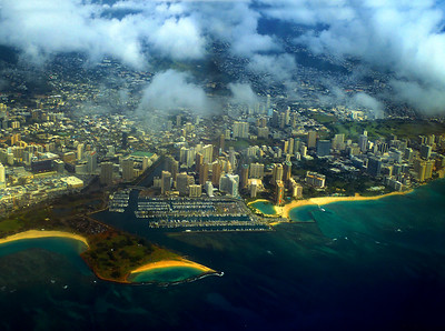 The Island of Oahu-Aerials of Honolulu