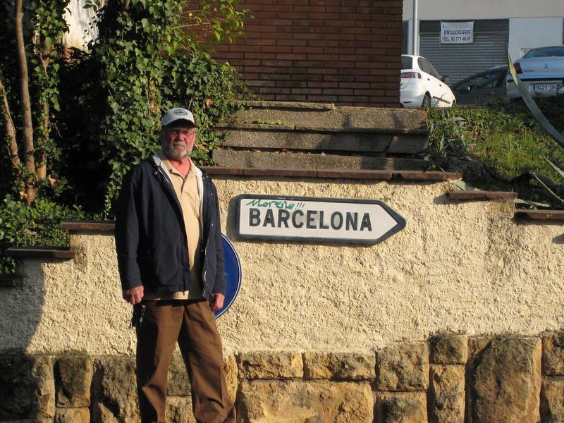Barcelona & Montserrat - Outside the restaurant