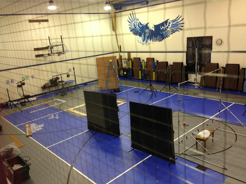 Setting up in the gym