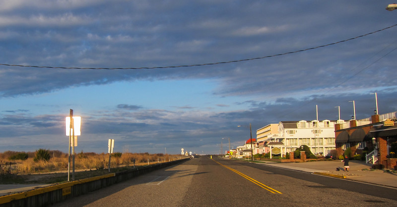 Beach Avenue in the early morning light.