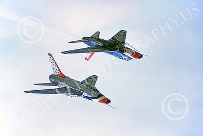 US Air Force THUNDERBIRDS North American F-100 SuperSabre Airplane Pictures