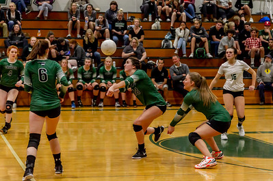 Game two into Game three, Set seven: Vashon Island High School Varsity Volleyball v Annie Wright 09/26/2018