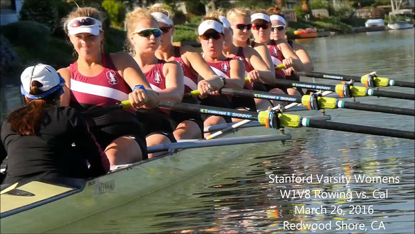 Stanford Women Rowers at the Pac-12 Challenge, 2016-03-26