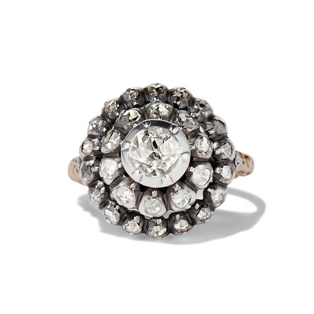 .78ctw Victorian Rose Cut Cluster Ring
