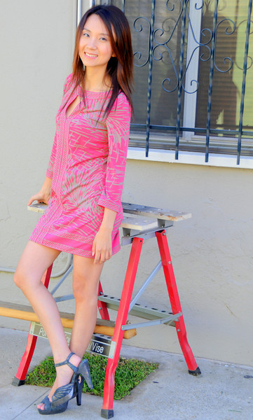 beautiful woman model red dress 104.345.4