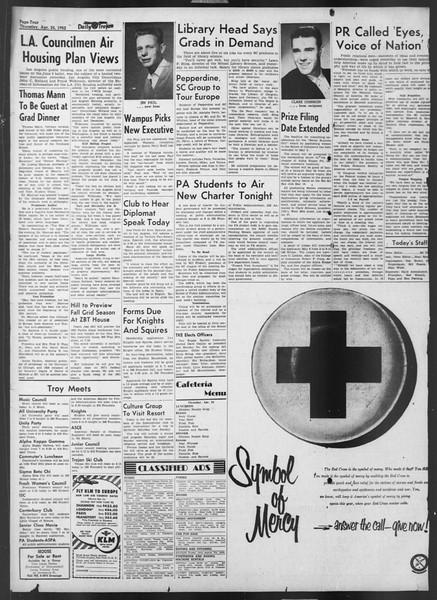 Daily Trojan, Vol. 43, No. 120, April 24, 1952