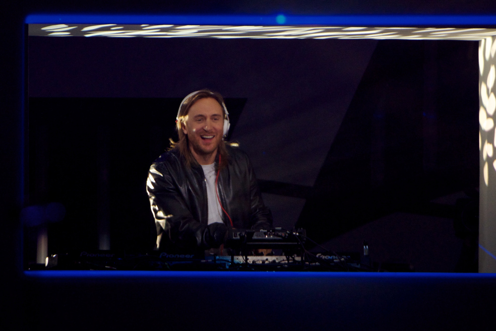 Description of . David Guetta performs on stage during